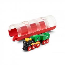 Lokomotywa parowa z tunelem
