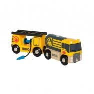 Ciężarówka z wagonami
