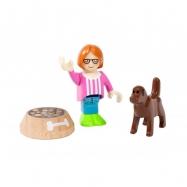 Figurka a pes s miskou