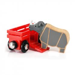 BRIO Rhino & Wagon samochodzik