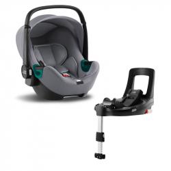 Autosedačka Baby-Safe 3 i-Size Bundle Flex iSense, Frost Grey