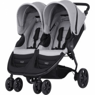 BRITAX Kočík B-AGILE DOUBLE 2017, Steel Grey