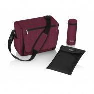 BRITAX Přebalovací taška, Wine Red Melange