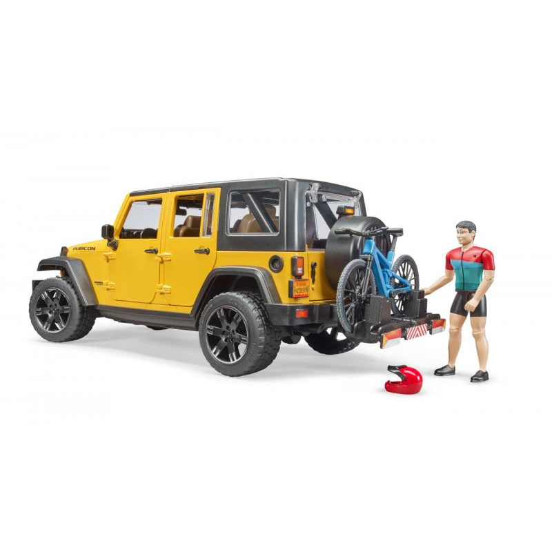 Voľný čas - Jeep Wrangler Rubicon Unlimited s horským okolo a cyklistom
