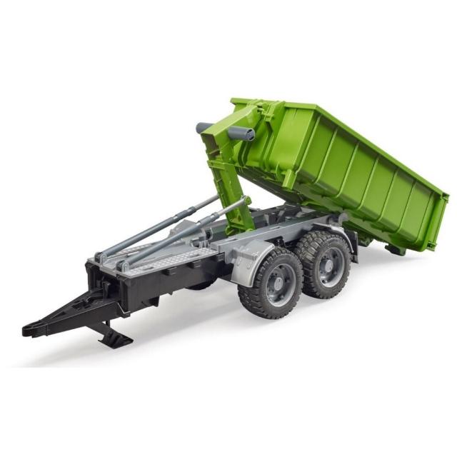 Bruder Zelený vozidlo so sklápacím kontajnerom mierka: 1:16