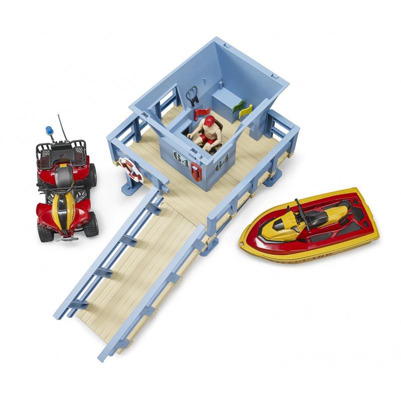 Bruder Věž pobřežní hlídky se čtyřkolkou, skůtrem a plavčíkem