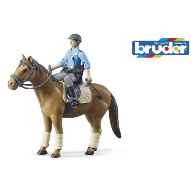 Figurka policjanta na koniu – 62507 – BRUDER