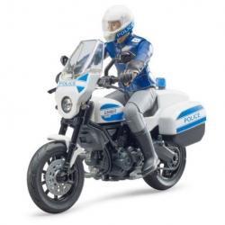 Bruder BWORLD policajný motocykel Ducati Scrambler s jazdcom