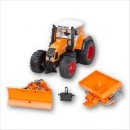 Bruder -  Traktor Fendt 926 Vario s radlicí a posypem - oranžový