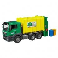Bruder - Nákladní auto MAN TGS - popelář (zelený)