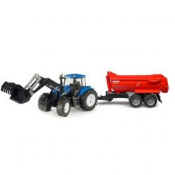 Bruder - Traktor New Holland T8040 s nakladačem a valníkem Krampe