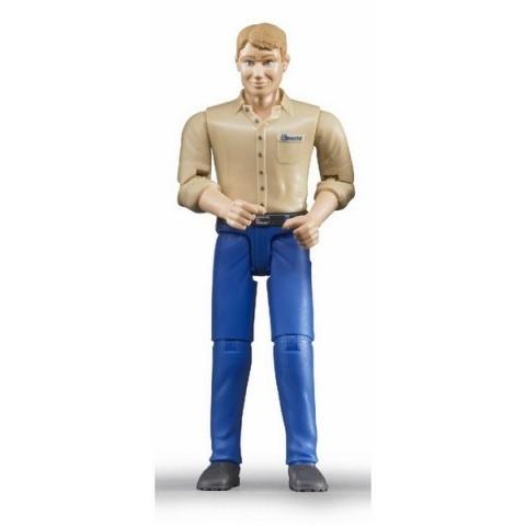 Bruder - Figurka muž - modré kalhoty