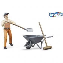 Bruder - Set komunal s figurkou