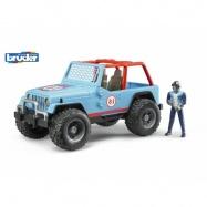 Bruder - modré auto jeep s vodičom