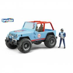 Bruder - modré auto jeep s řidičem