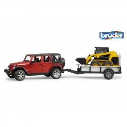 Bruder - Jeep RUBICON + přepravník BOB CAT