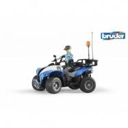 Bruder - modrá čtyřkolka policie s figurkou