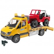 Bruder - MERCEDES BENZ Sprinter- odtah, jeep