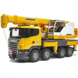 Ciężarówka Scania R Liebherr z dźwigiem Bruder