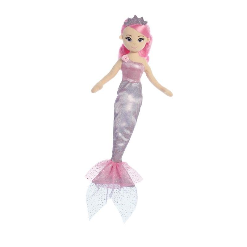 4a65943289bf Látková Morská panna Levanduľová princezná 46 cm