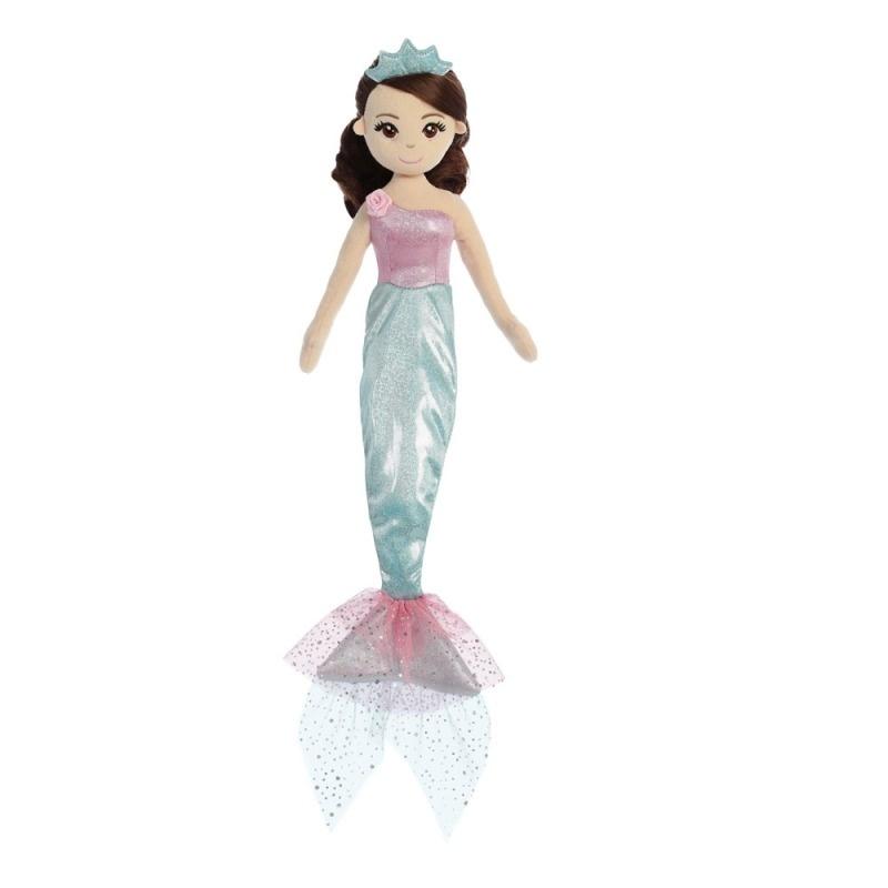 9a6bc9a7f048 Látková Morská panna Tyrkysová princezná 46 cm