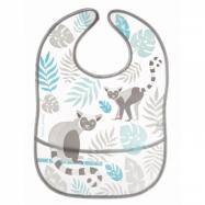 Plastový podbradník s vreckom Jungle - sivý