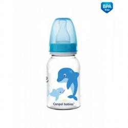 Fľaštička s potlačou 120 ml Love & Sea - modrá