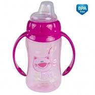 Tréningová hrneček/lahvička s úchyty 320ml - růžový s úchyty