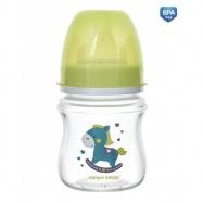Antikoliková fľaštička so širokým hrdlom Canpol Babies Easy Štart - TOYS 120 ml - zelená