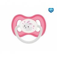 Dudlík anatomický Canpol Babies 6-18m B, Bunny&Company -  králiček růžový