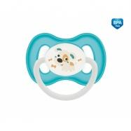 Dudlík symetrický Canpol Babies 18m+ C, Bunny&Company -  pejsek tyrkysový