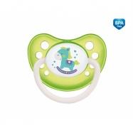 Cumlík anatomický Canpol Babies 18m + C, Toys - koníček zelený