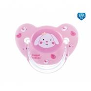 Dudlík Sweet Fun 18+ C - růžový, savička - zkosená