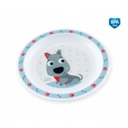 Plastový talířek Pejsek - modrý