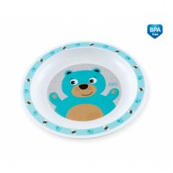 Plastový talířek Méďa - tyrkysový