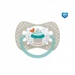 Dudlík symetrický Cupcake 18m+ C - šedý