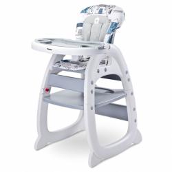 Jedálenská stolička CARETERO Home grey