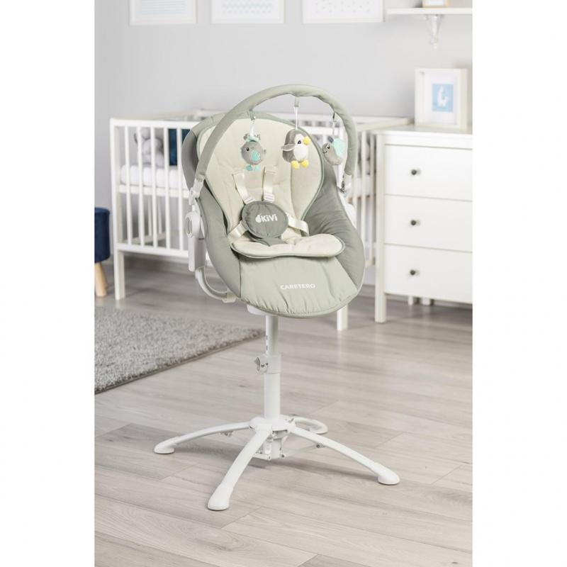Dětská jídelní židlička 3v1 Caretero Kivi grey