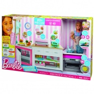 Barbie - Zestaw Idealna kuchnia i lalka