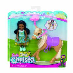 Mattel lalka Barbie Chelsea z kucykiem