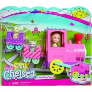 Lalka Barbie Chelsea + pociąg ze zwierzakami Mattel