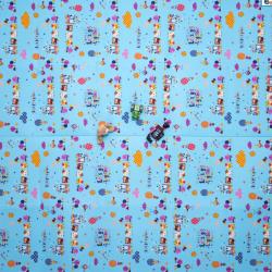 Casmatino dětská skládací podložka Happy Train – 2100 x 2000 x 4