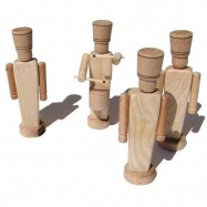 Ceeda Cavity - dřevěné hračky - Vojáček bubeník 1ks