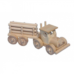 Ceeda Cavity - prírodné drevené auto - TIR s kládama