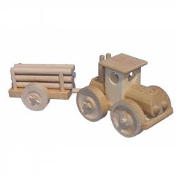 Ceeda Cavity - prírodný drevený veľký traktor s kládama