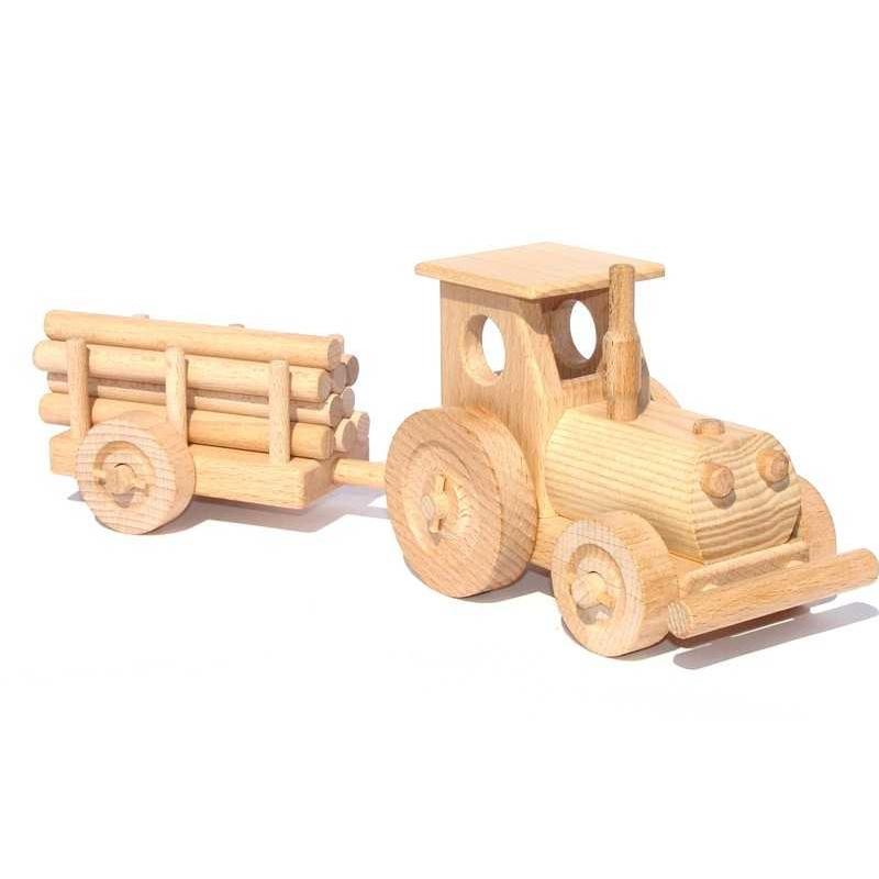 Ceeda Cavity - dřevěné auto - Traktor s vlečkou - malý