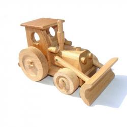 Ceeda Cavity - prírodné drevené auto - Traktor s radlicou