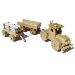 Ceeda Cavity - drevené auto - Traktor s vlečkou - veľký