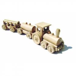 CEED Cavity - prírodný drevený vláčik - Nákladný vlak