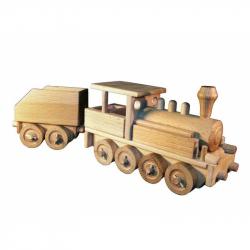 CEED Cavity - prírodný drevený vláčik - Parná lokomotíva